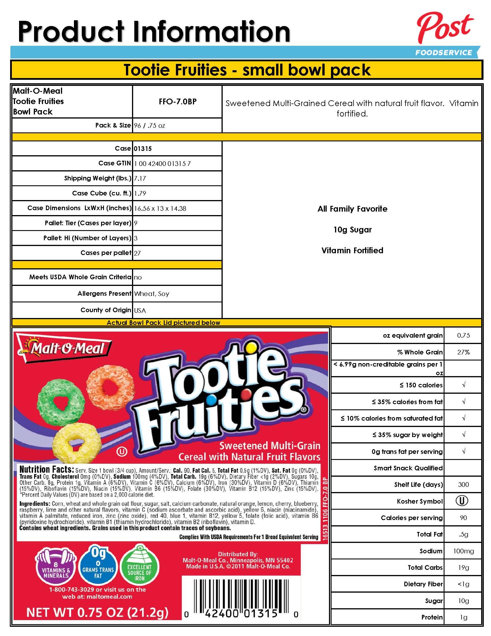 Cereal   Danco Foods